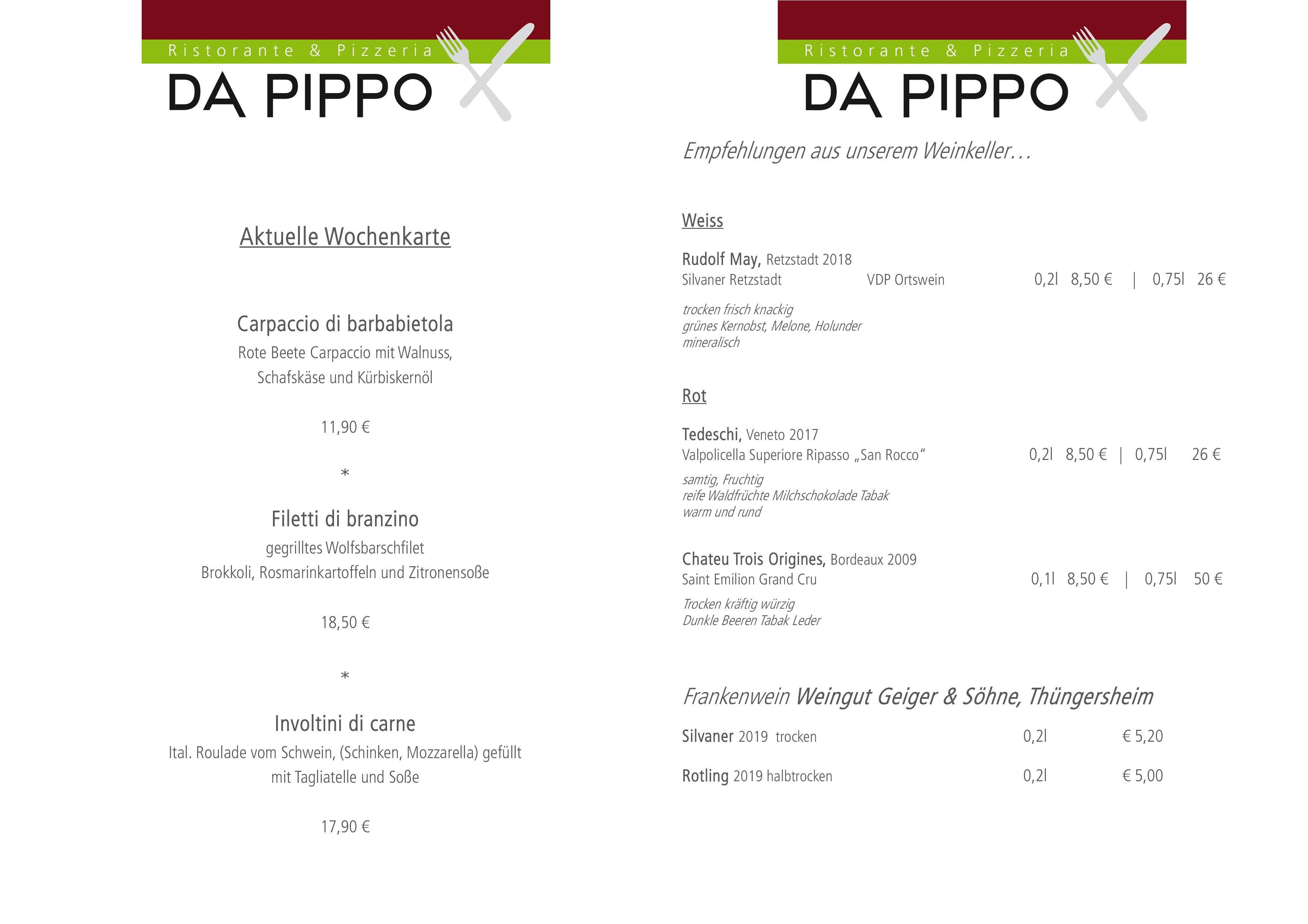 Wochenkarte + Weinempfehlung DIN A4 MÄRZ2020FB_1