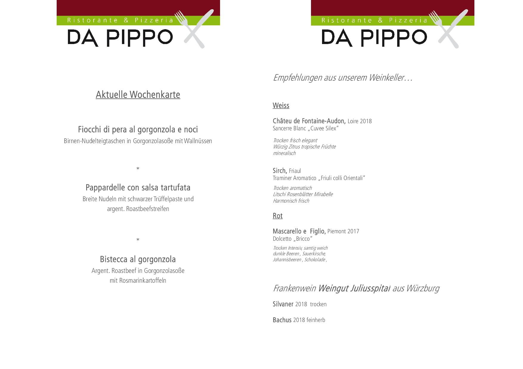 Wochenkarte + Weinempfehlung DIN A4 OKTOBER2019FBFBFB
