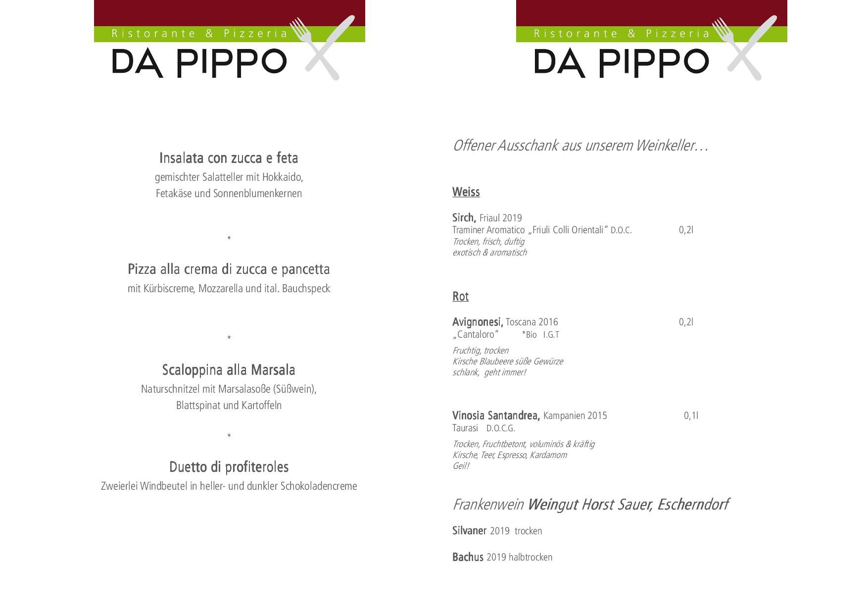 Wochenkarte + Weinempfehlung DIN A4OKTOBER2020FB